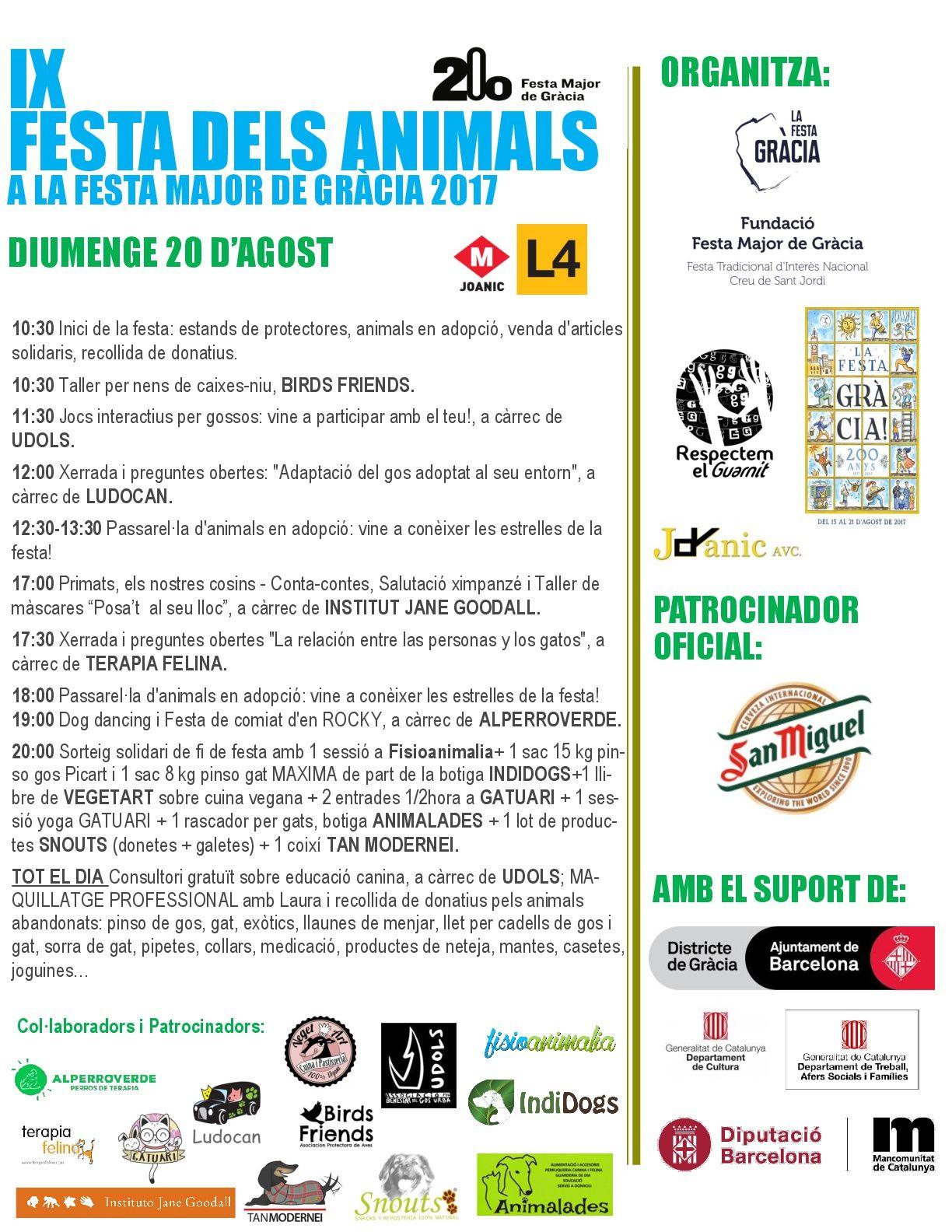 CARTELL DIUMENGE 20-08-17 - FESTA DELS ANIMALS GRACIA-001 (1)